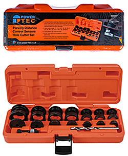 Quick and professional results every time with this parking sensor hole cutter set from Power-TEC
