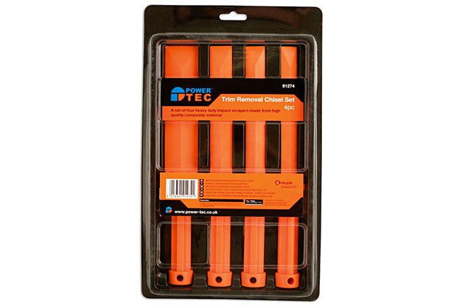 Packaging image of Power-TEC | 91274 | Trim Removal Chisels Set - 4pc