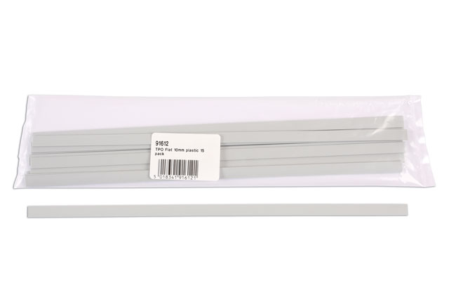 91612 TPO Flat Plastic Strips 10mm 15pc