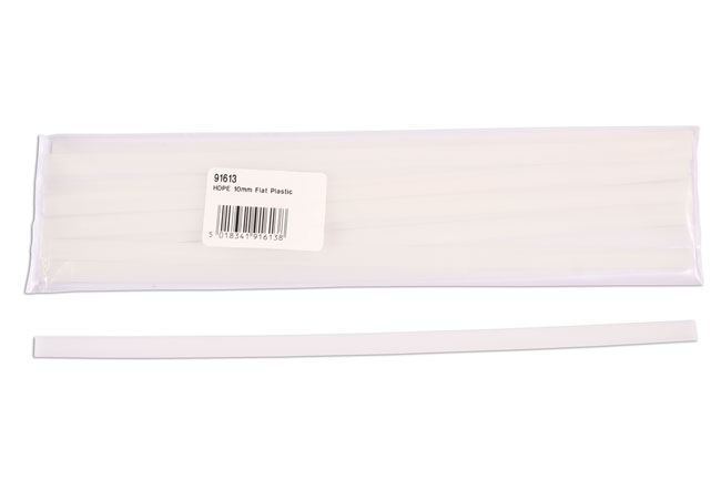 91613 HDPE Flat Plastic Strips 10mm 15pc