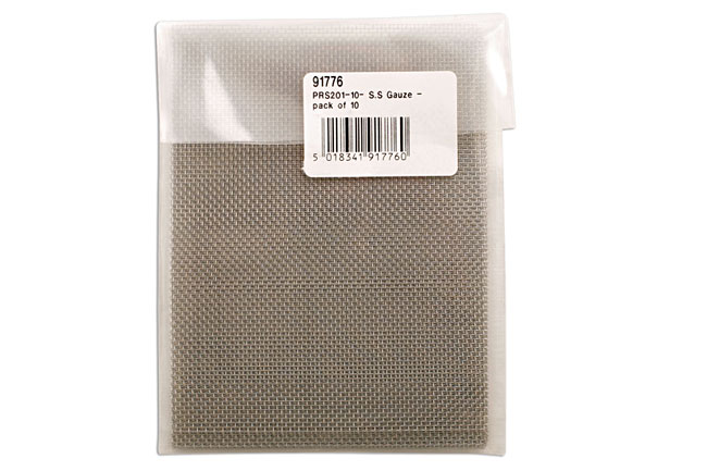 Packaging image of Power-TEC | 91776 | S.S Gauze - pack of 10 ( mesh )