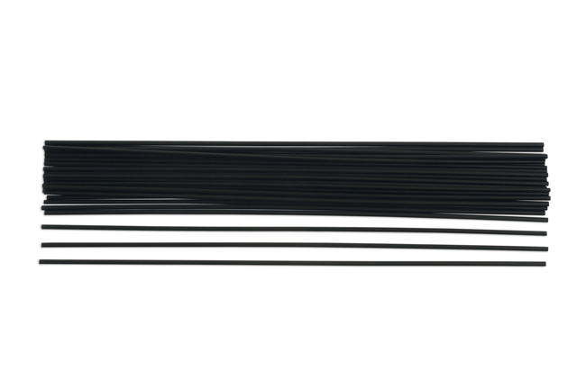 91817 PP Black Rods 3mm 30pc