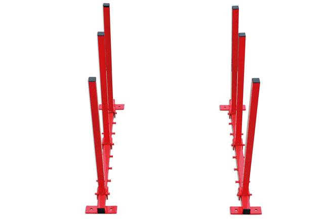 92321 Folding Bumper Rack - Wall Mounted