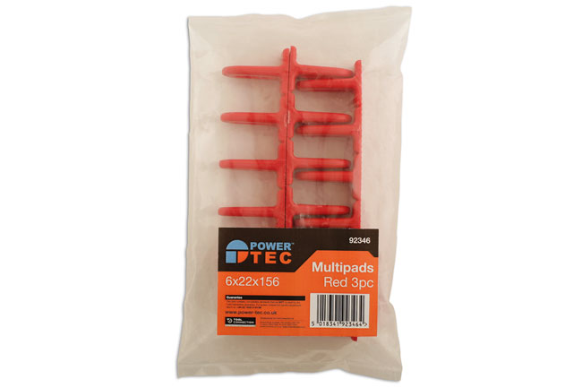 ~/items/xlarge/Packaging image of Power-TEC | 92346 | Red Multipads 6x22 Pack of 3