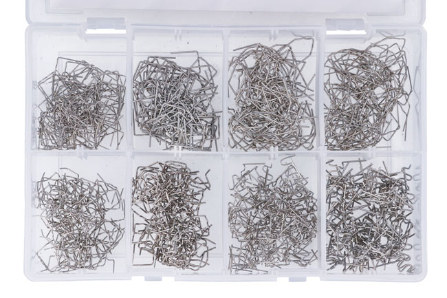 Overhead image of Power-TEC | 92382 | Assorted Staples for Hot Stapler 800pc