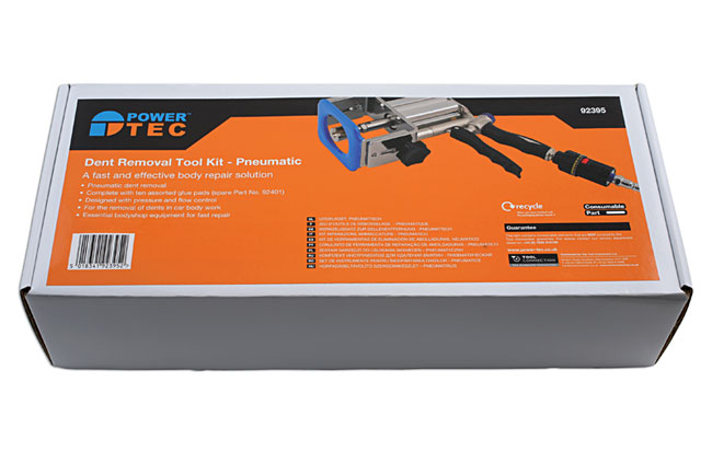 Packaging image of Power-TEC | 92395 | Dent Removal Glue Tool Kit - Pneumatic