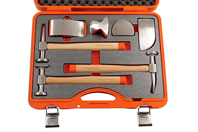 OverheadCase image of Power-TEC | 92430 | Aluminium Hammer and Dolly Set 7pc